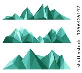 green mountains in low poly...   Shutterstock .eps vector #1396426142
