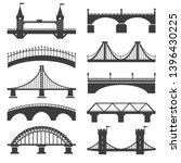 bridge icons. bridges vector... | Shutterstock .eps vector #1396430225