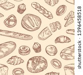 seamless pattern with different ... | Shutterstock .eps vector #1396458518