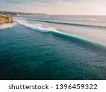 aerial view of big waves at... | Shutterstock . vector #1396459322
