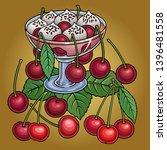 juice  berries  cherries hand... | Shutterstock .eps vector #1396481558