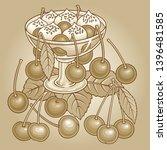 juice  berries  cherries hand... | Shutterstock .eps vector #1396481585