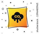 black co2 emissions in cloud... | Shutterstock .eps vector #1396485965
