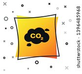 black co2 emissions in cloud... | Shutterstock .eps vector #1396485968