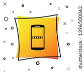 black mobile phone and password ... | Shutterstock .eps vector #1396500062