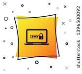 black laptop with password... | Shutterstock .eps vector #1396500092