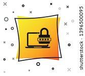 black laptop with password... | Shutterstock .eps vector #1396500095