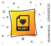 black ruby file document icon.... | Shutterstock .eps vector #1396500125