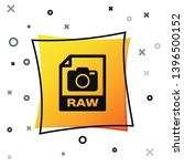 black raw file document icon....   Shutterstock .eps vector #1396500152