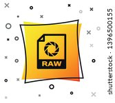 black raw file document icon....   Shutterstock .eps vector #1396500155