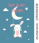 sweet bunny illustration vector ...   Shutterstock .eps vector #1396500338