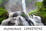 Big Waterfall Cascade With...