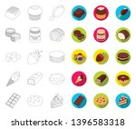 chocolate dessert outline flat... | Shutterstock .eps vector #1396583318