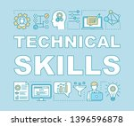 technical skills word concepts...