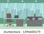 office room. cozy design....   Shutterstock .eps vector #1396600175