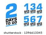 number of days left. set of... | Shutterstock .eps vector #1396613345