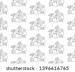 flowers pattern  drawing and... | Shutterstock .eps vector #1396616765