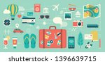 summer vacations and... | Shutterstock .eps vector #1396639715