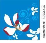 pretty flowers and vine | Shutterstock .eps vector #13966666