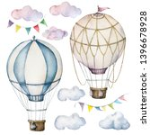 Watercolor Set With Hot Air...
