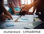 asian business adviser meeting... | Shutterstock . vector #1396680968