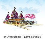ratha yatra is a major festival ... | Shutterstock .eps vector #1396684598