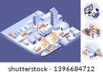 smart logistics and... | Shutterstock .eps vector #1396684712