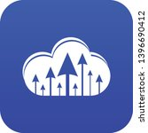 hosting cloud icon blue vector...