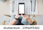 Mock Up Hand Use Mobile App...