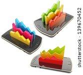 mobile report statistics...   Shutterstock . vector #139670452