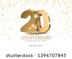 anniversary 20. gold 3d numbers.... | Shutterstock .eps vector #1396707845