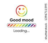 vector illustration rainbow and ... | Shutterstock .eps vector #1396711595