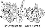 black and white cartoon... | Shutterstock . vector #139671955