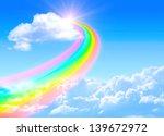 Beautiful Bright Rainbow In The ...