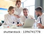 group of business partners... | Shutterstock . vector #1396741778