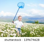 funny kids are playing in field.... | Shutterstock . vector #139674628