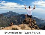 trail runner  man and success... | Shutterstock . vector #139674736