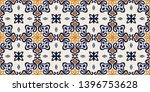 talavera pattern. azulejos... | Shutterstock .eps vector #1396753628
