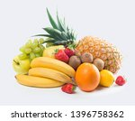 tropical fruits isolated on...   Shutterstock . vector #1396758362