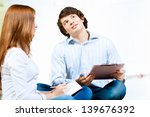 image of two students... | Shutterstock . vector #139676392