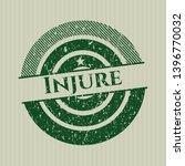 green injure rubber grunge seal   Shutterstock .eps vector #1396770032