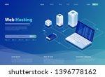 concept of server hosting. big... | Shutterstock .eps vector #1396778162