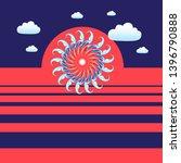 abstract unusual sunset vector... | Shutterstock .eps vector #1396790888