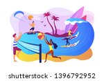tiny people adults playing...   Shutterstock .eps vector #1396792952