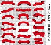 retro red web ribbon set... | Shutterstock .eps vector #1396794122