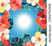 bright floral vector background ... | Shutterstock .eps vector #1396794308