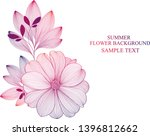 abstract  hand drawn floral... | Shutterstock .eps vector #1396812662