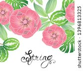 spring background with rose...   Shutterstock .eps vector #1396813325
