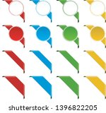 big set of different colored... | Shutterstock .eps vector #1396822205