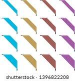 set of corner ribbon banners | Shutterstock .eps vector #1396822208